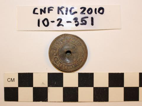 Back of U.S. Prison Service Metal Button