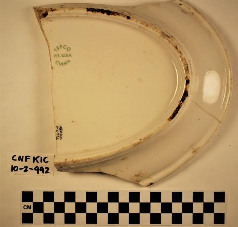 Improved Whiteware Tepco China Company Platter - Exterior