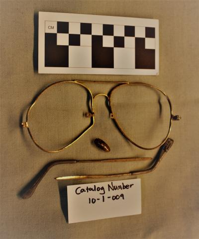 Photograph of Eye Glasses found at the Kooskia Internment Camp