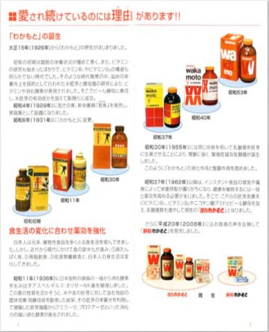 "Advertisement from Wakamoto Pharmaceutical Company demonstrating ""Source of Youth"" Vitamin E Supplement"